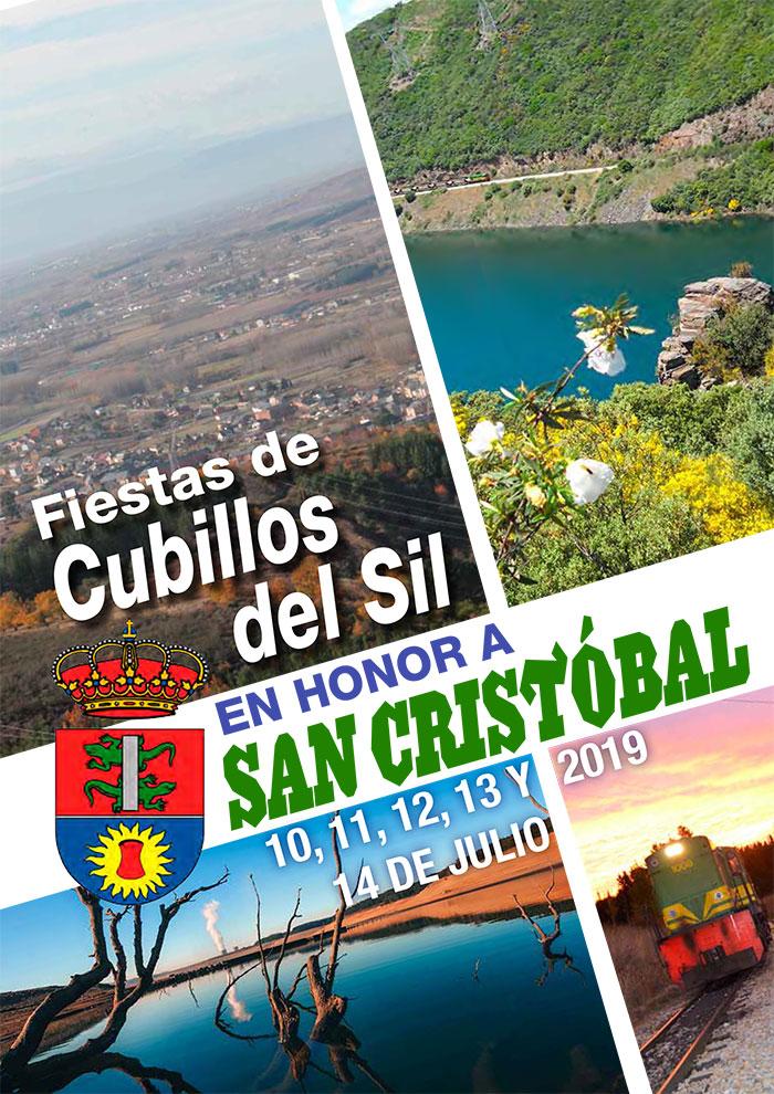 Fiestas de San Cristobal 2019 en Cubillos del Sil. Programa de actividades 1