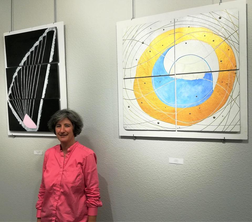 Exposición de esculturas sobre pizarra de Ana Paula Carvalho 1