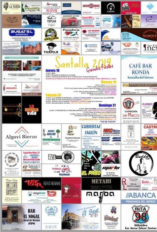 Grandes Fiestas de Santa Marina en Santalla. 28 al 31 de Julio 1