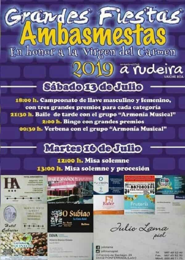 Fiestas del Carmen en Ambasmestas. 13 y 14 de julio. 1