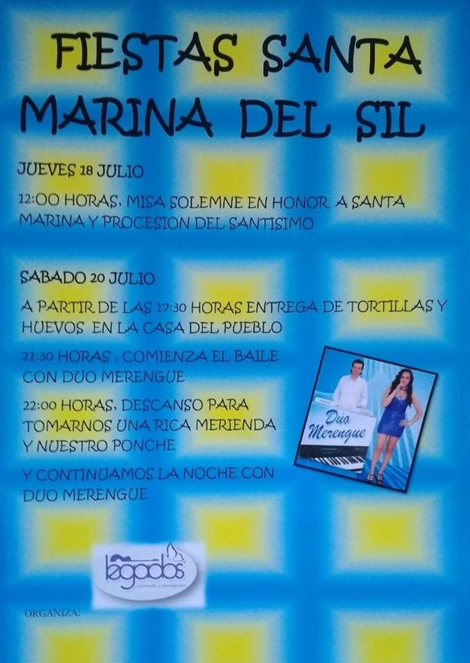Fiestas en Santa Marina del Sil. 18 y 20 de julio 1