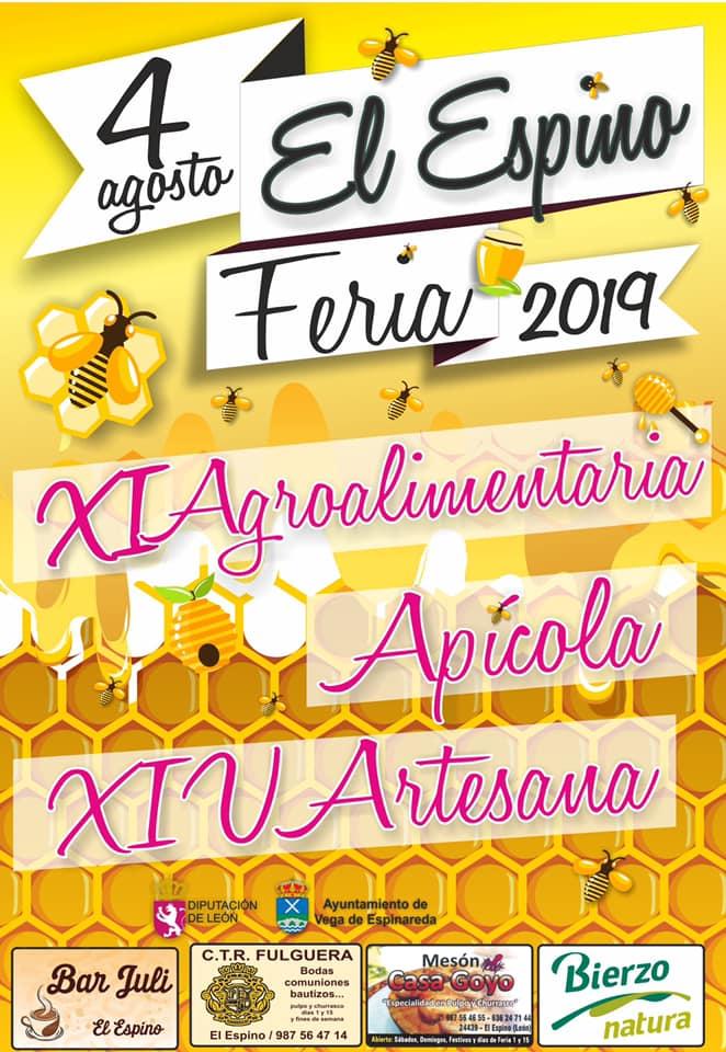 Feria Agroalimentaria, Apícola y Artesana de 2019 en el Espino el domingo 4 de agosto 1