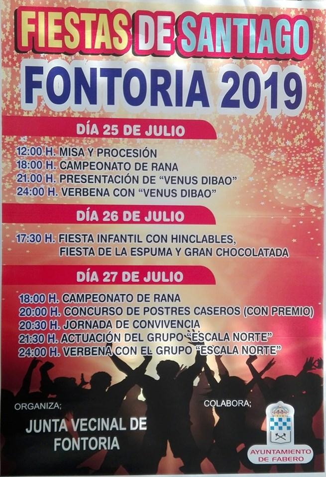 Fiestas en Fontoria. 25 al 27 de julio 1