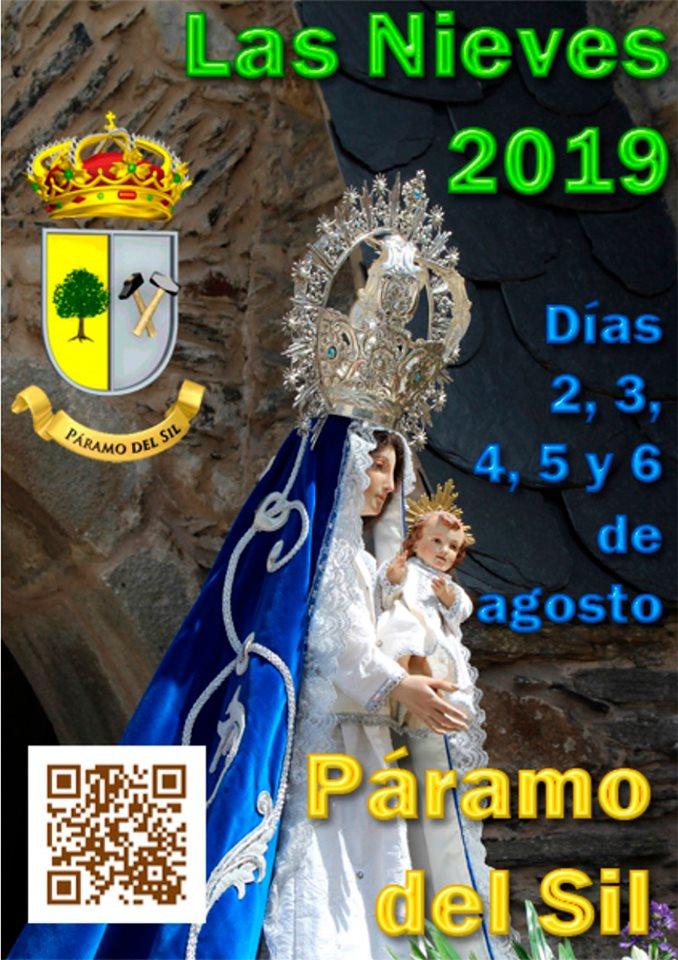 Fiestas de Las Nieves en Páramo del Sil. 2, 3, 4, 5 y 6 de agosto. Programación de actividades 1