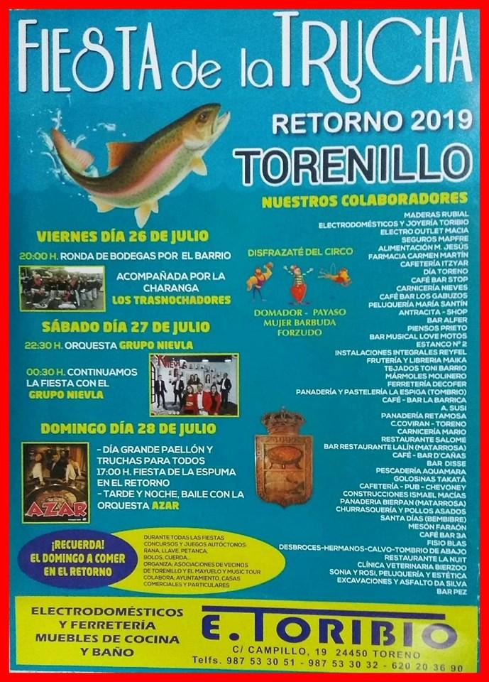 Fiestas de la trucha en Torenillo. 26 al 28 de julio 1