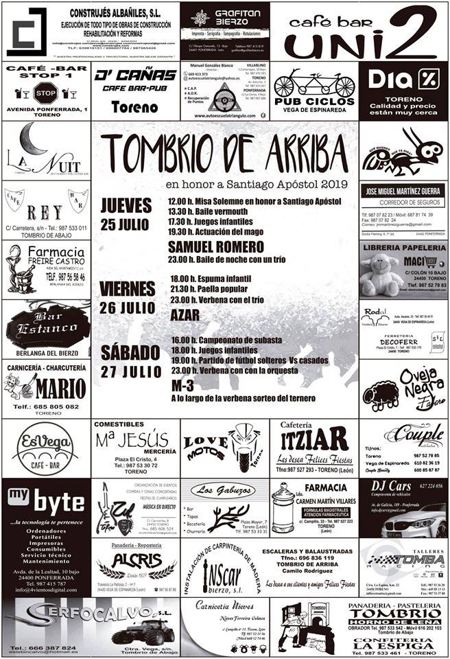 Fiestas en Tombrio de Arriba. 25 al 27 de julio 1