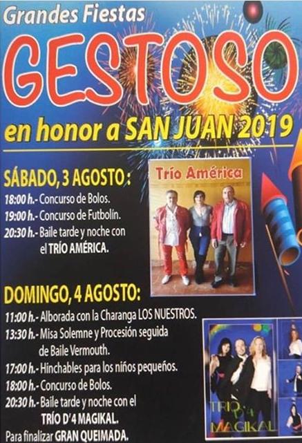 Fiestas en Gestoso. 3 y 4 de agosto 1