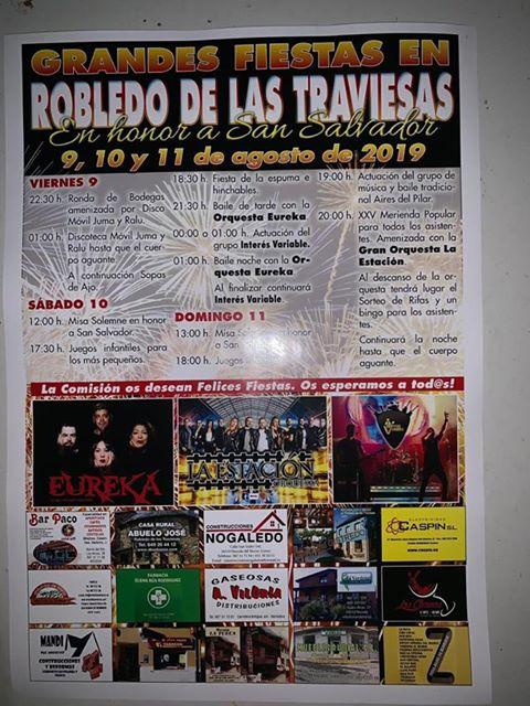 Fiestas de El Salvador en Robledo de las Traviesas. 9 al 11 de agosto 2019 1