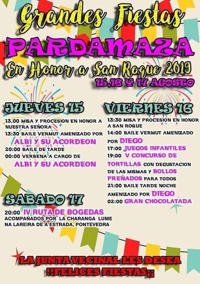 San Roque 2019 en Pardamaza. 15 al 17 de agosto 2019 1