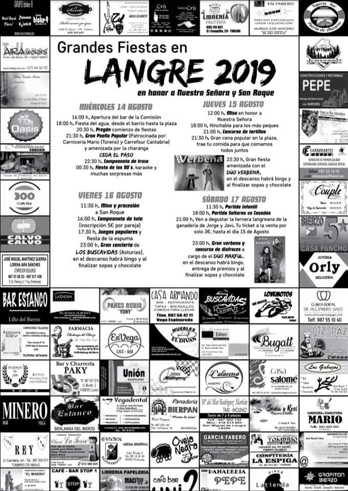 Grandes Fiestas en Langre. 14 al 17 de agosto 2019 1