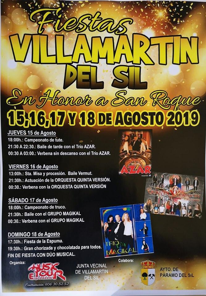 Fiestas en Villamartín del Sil 15 al 18 de agosto 2019 1