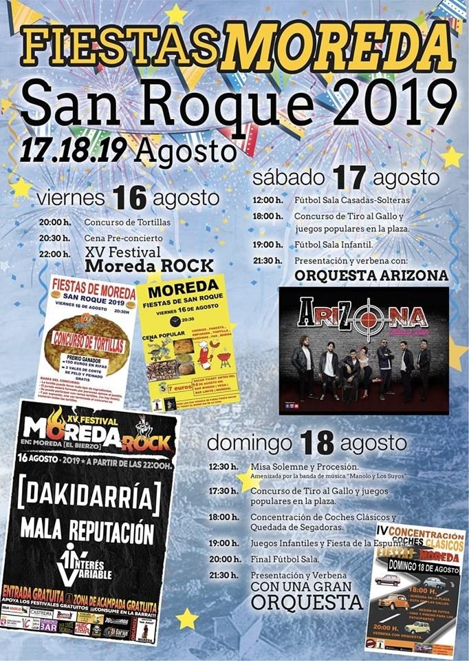 Fiestas de San Roque en Moreda. 16 al 18 de agosto. 1