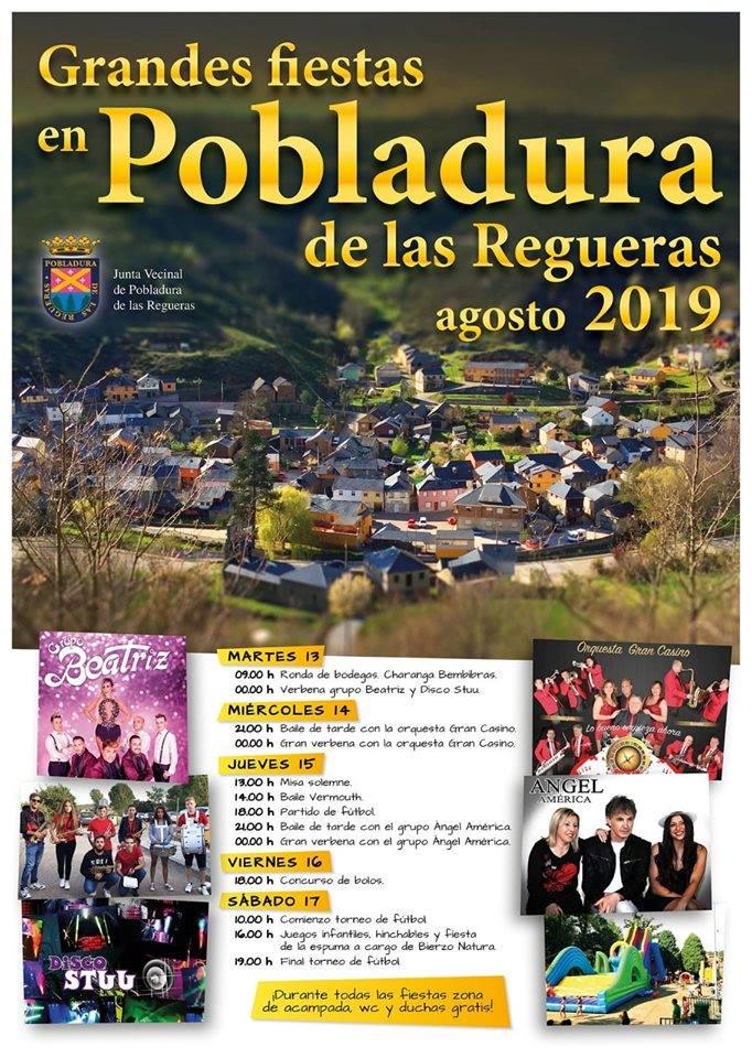 Fiestas en Pobladura de las Regueras. 13 al 17 de agosto 2019 1