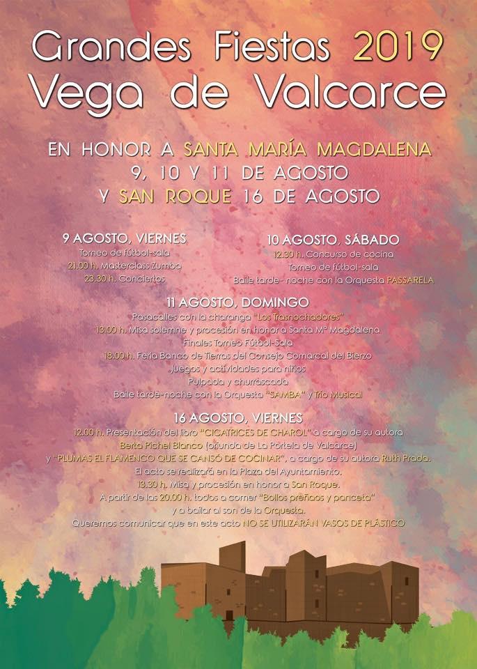 Fiestas en Vega de Valcarce. 9, 10, 11 y 16 de agosto 2019 1