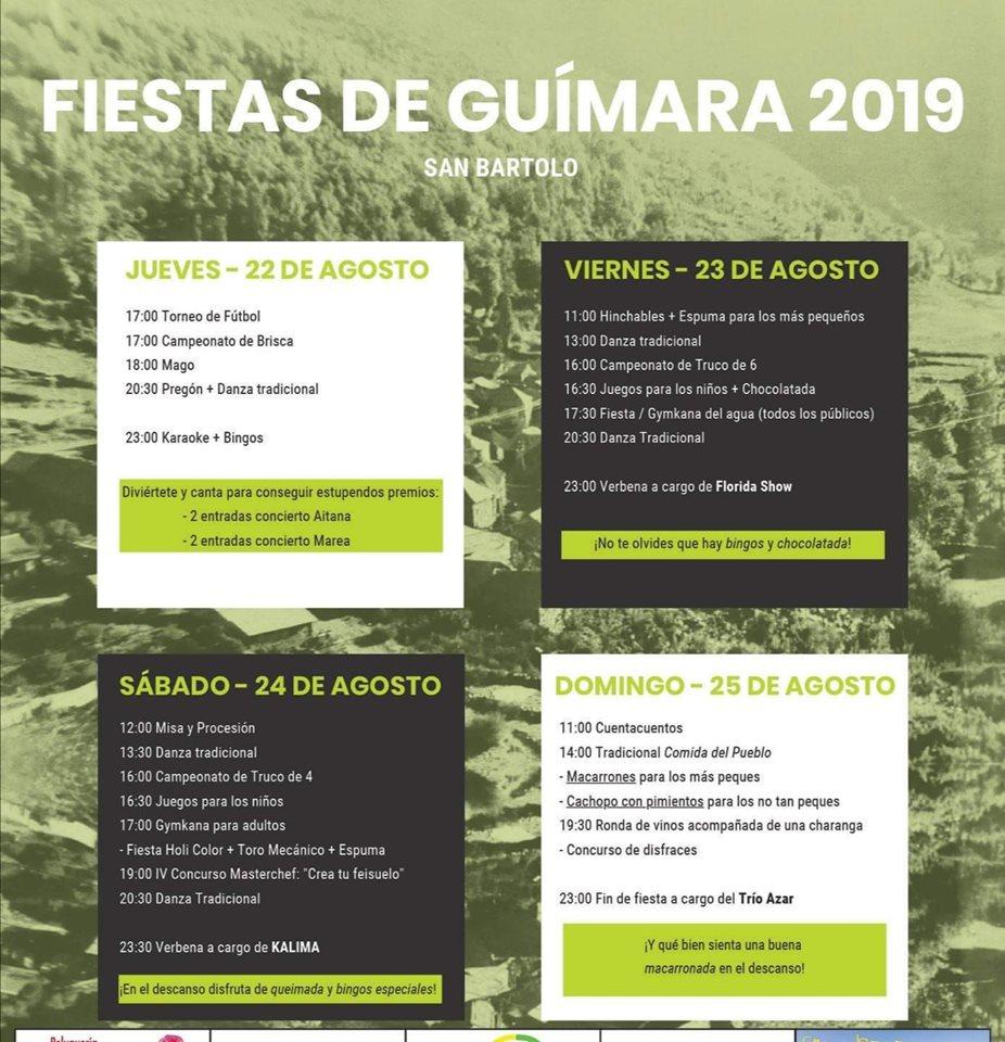 Fiestas en Guímara. 22 al 25 de agosto 2019 1