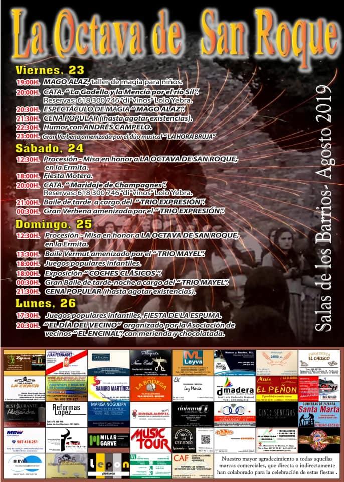 La Octava de San Roque en Salas de los Barrios. 23 al 26 de agosto 2019 1