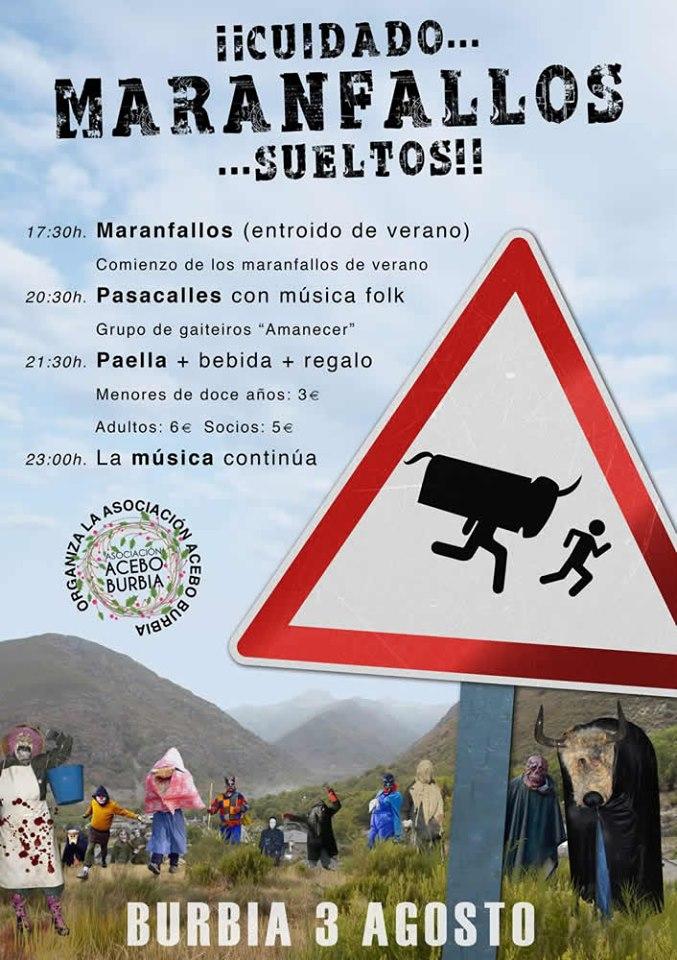 'Los Maranfallos', el carnaval de verano se celebra este sábado en Burbia 1
