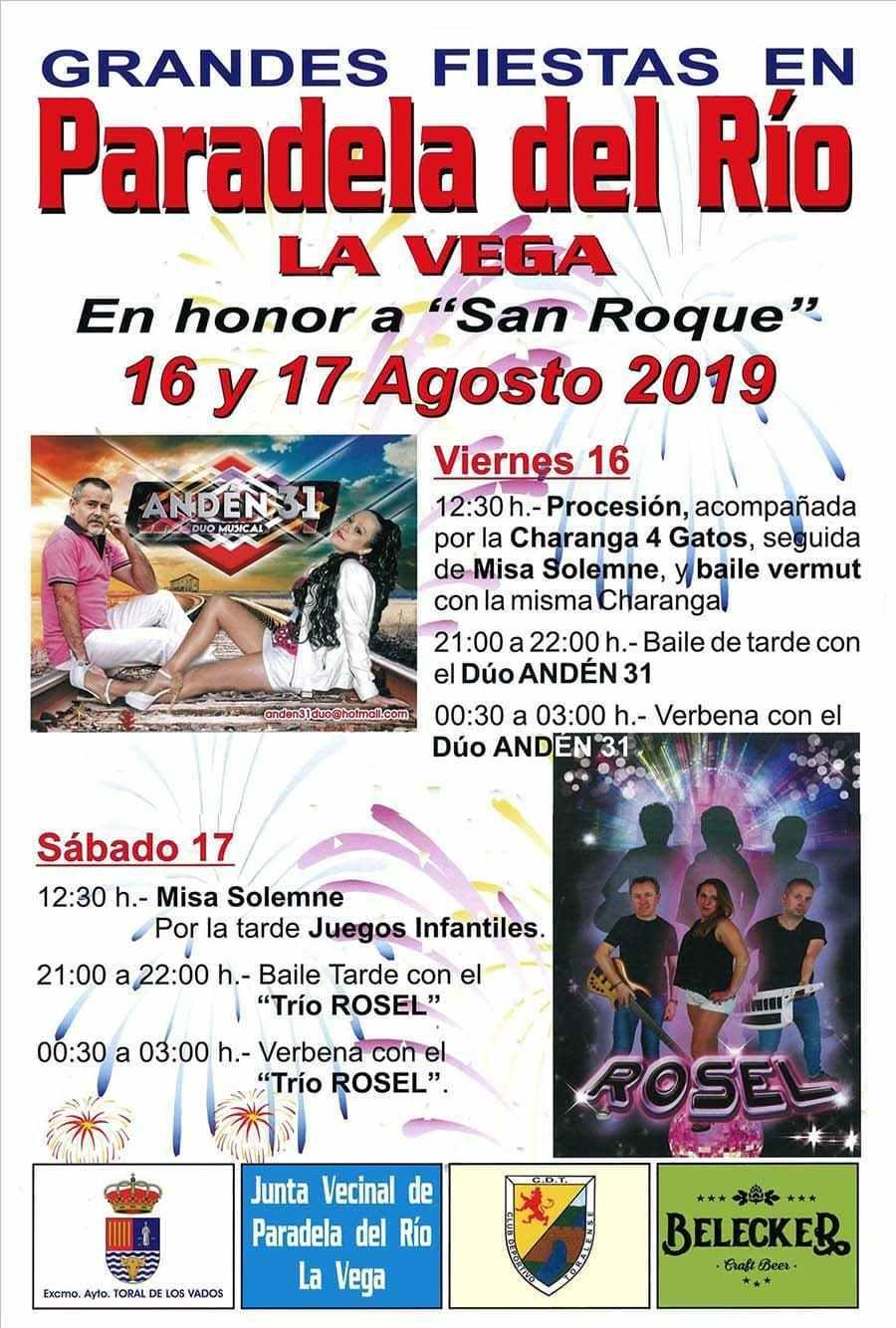 Fiestas en Paradela del Río. 16 y 17 de agosto 2019 1