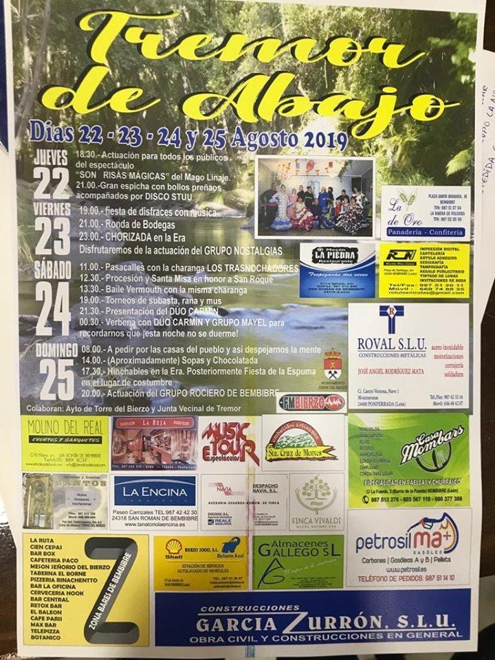 Fiestas en Tremor de Abajo del 22 al 25 de agosto 2019 1