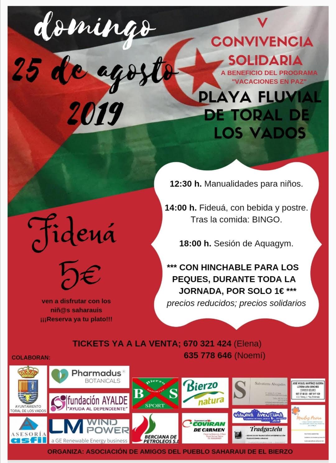 V Convivencia Saharaui el próximo domingo 25 de agosto en Toral de los Vados 1