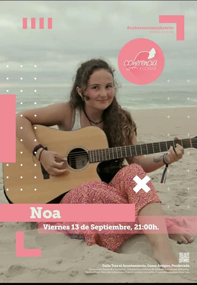 La dulce voz de la berciana 'Noa' inaugura la temporada de Coherencia Bar 1