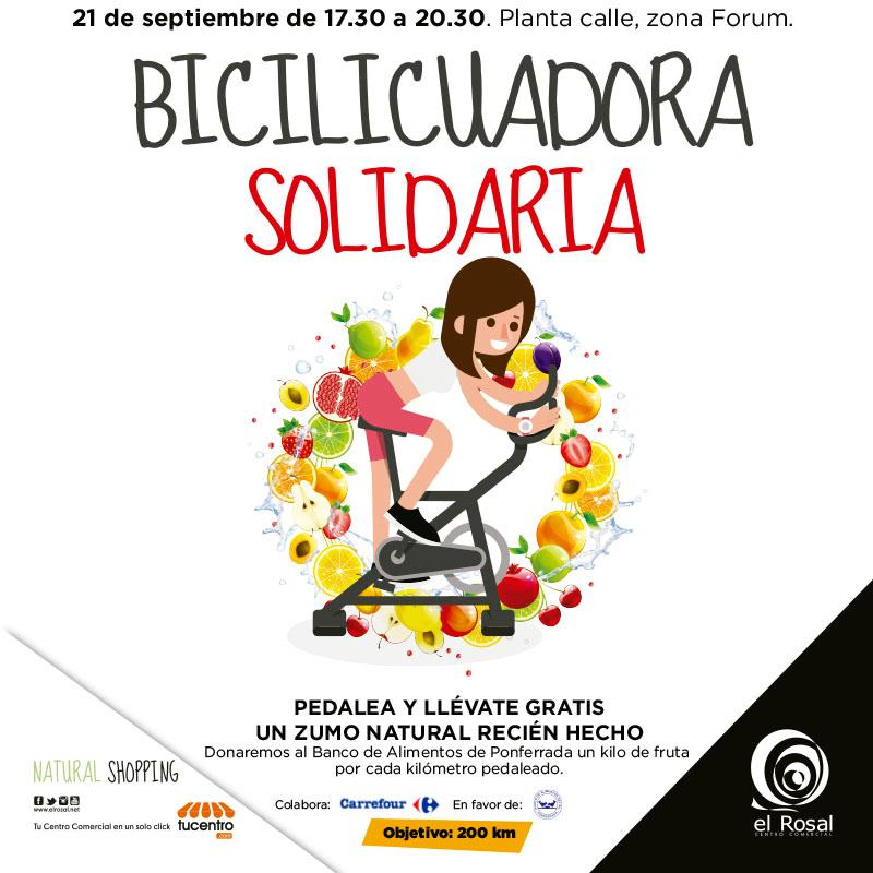 La bicilicuadora solidaria, actividad para todas las edades en El Rosal 1