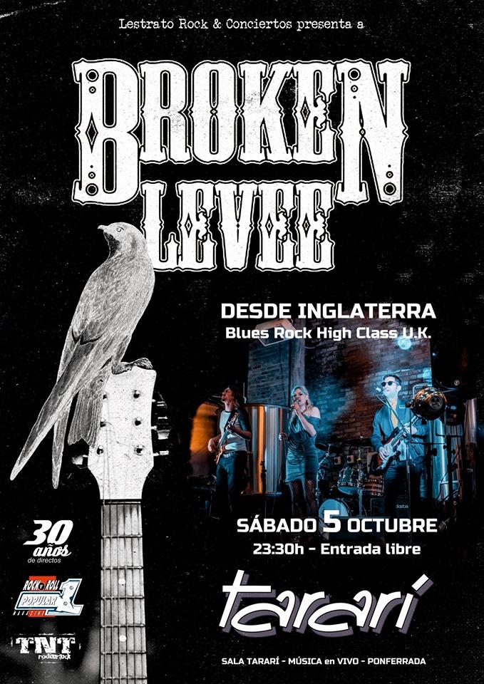 Concierto de Broken Levee en Sala Tararí 1