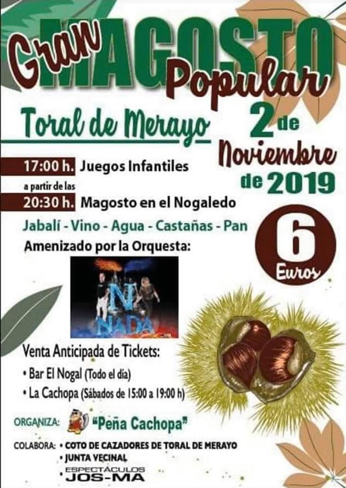 Gran Magosto Popular en Toral de Merayo. 2 de noviembre 2019 1