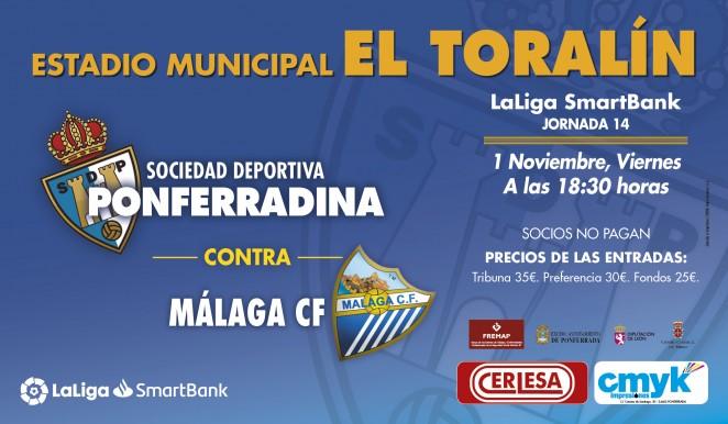 Fútbol: SD Ponferradina - Málaga FC 1