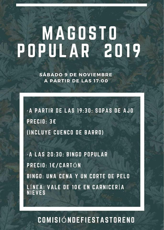 Magosto organizado por la Comisión de fiestas de Toreno. 9 de noviembre 2019 1