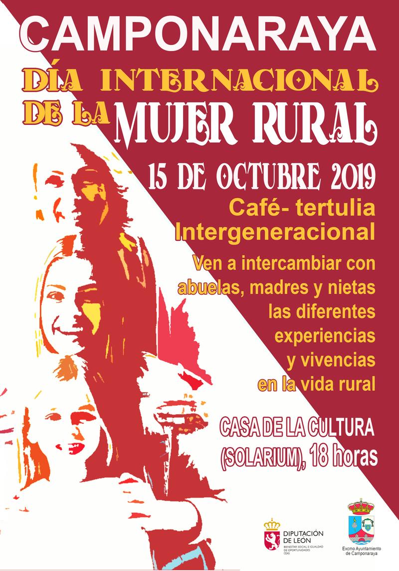 Cafe tertulia en Camponaraya por el Día Internacional de las Mujeres Rurales 1
