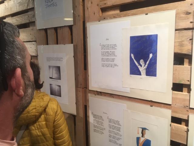 Apertura de la exposición de grabados y poesía Vademécum en el Museo de la Energía 1