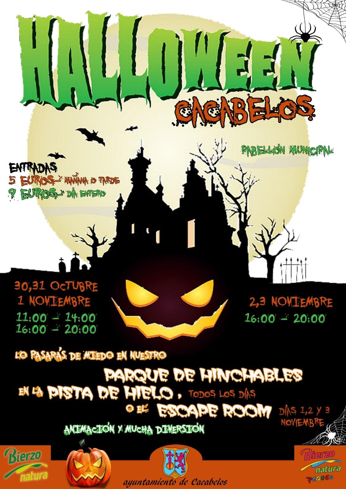 Halloween, Escape Room, hinchables y pista de hielo para disfrutar del puente en Cacabelos 1