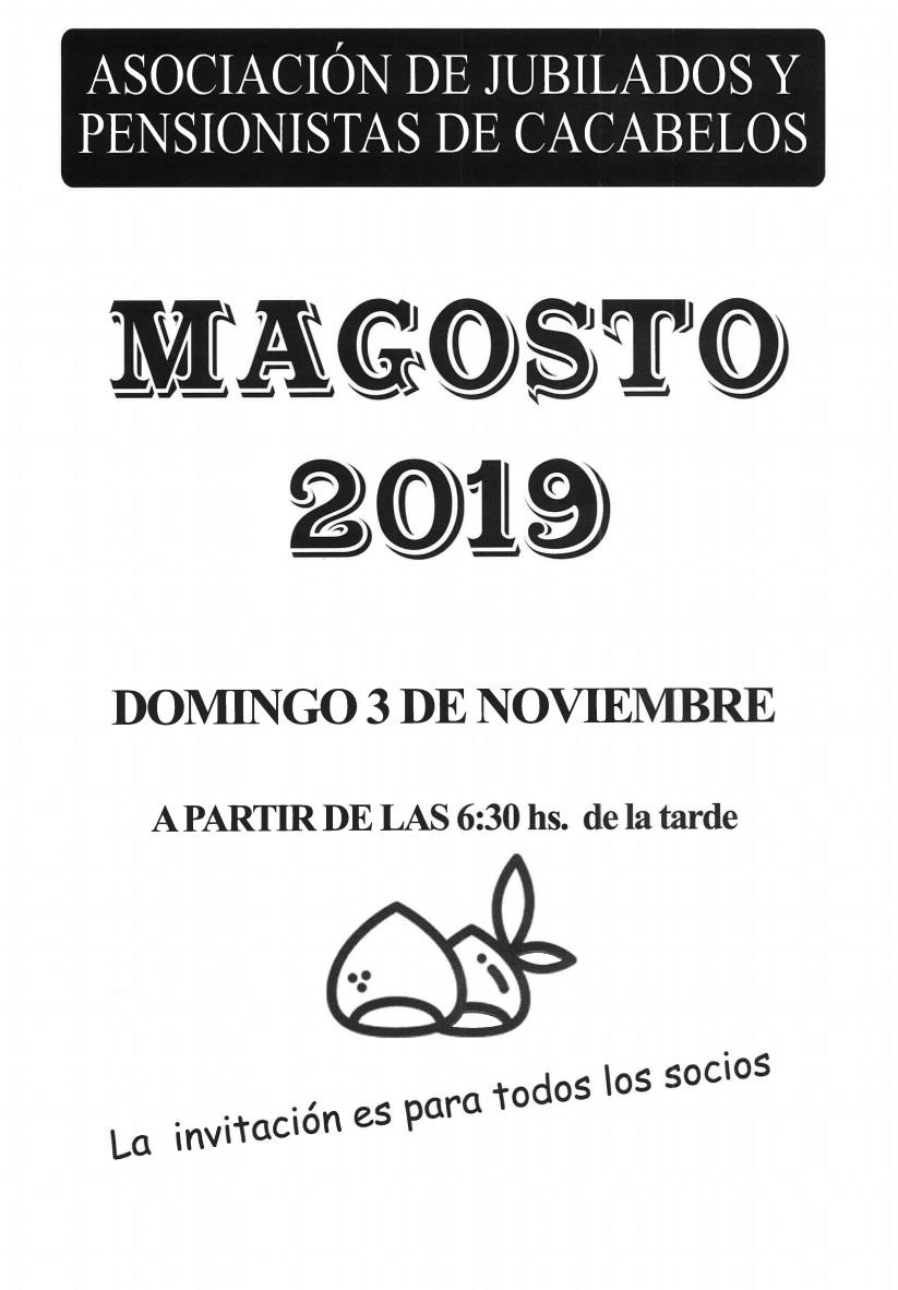 Gran Magosto de la Asociación de jubilados de Cacabelos. 3 de noviembre 2019 1