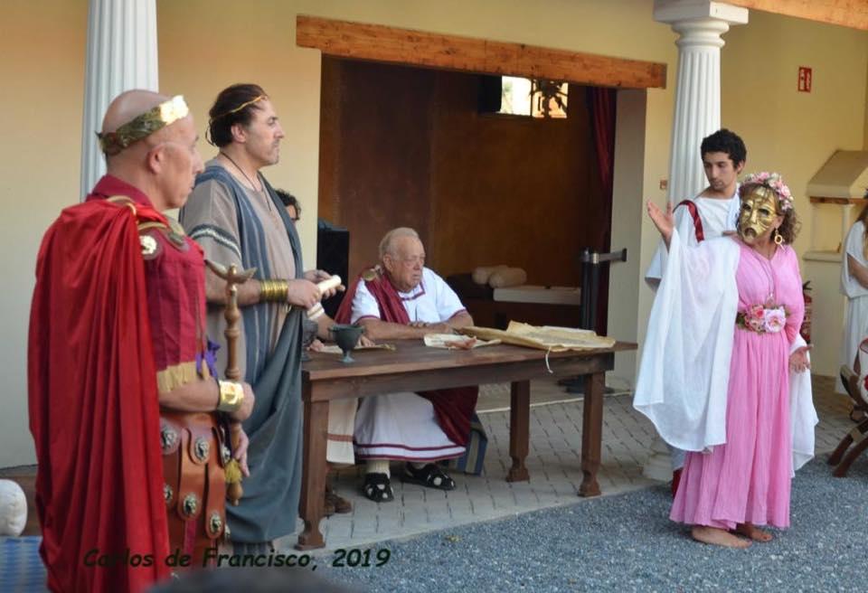 La Moncloa de San Lázaro acoge la representación teatral de 'La Conspiración de la Subura' 1