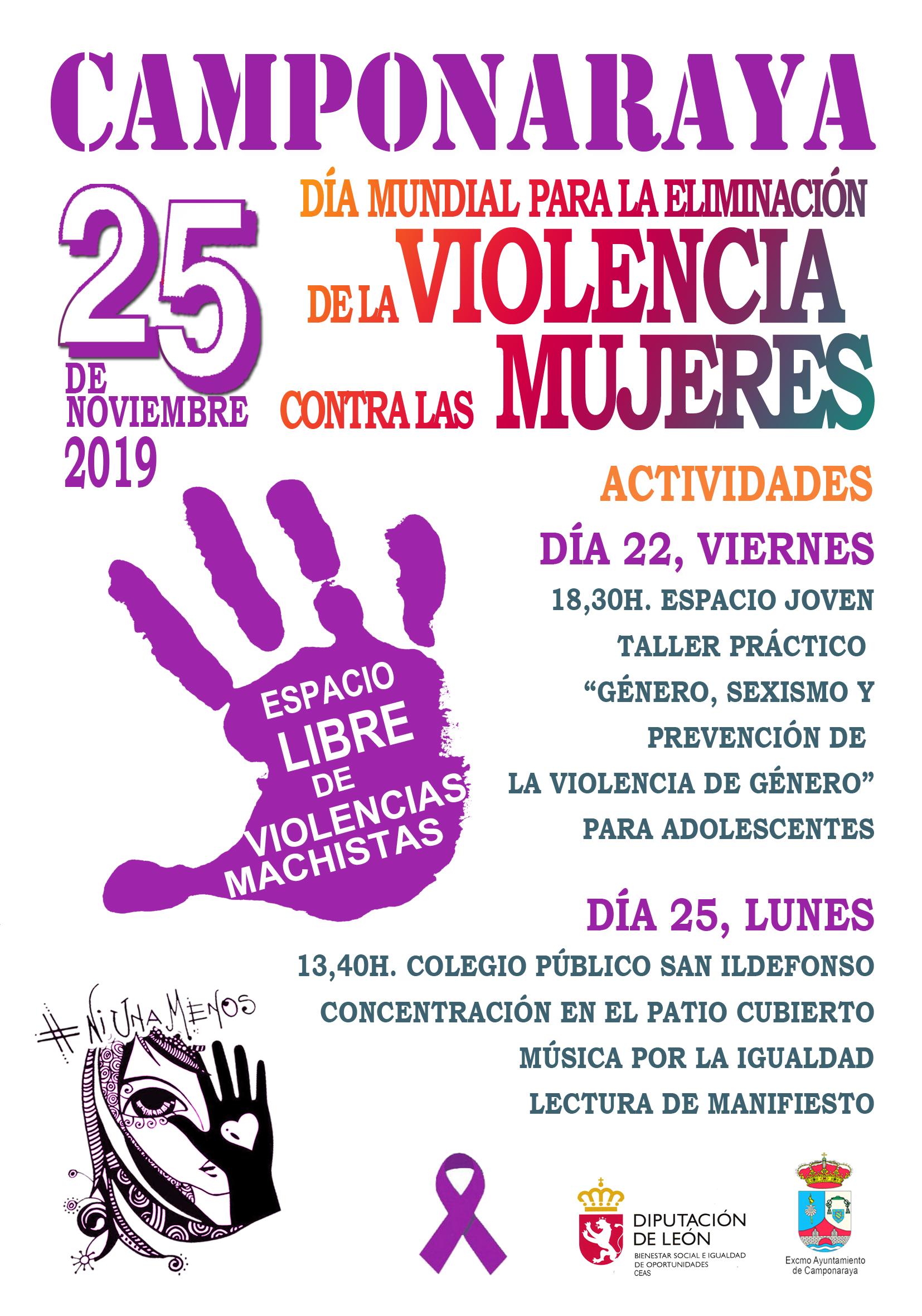 Actos conmemorativos del 25-N en Camponaraya 1
