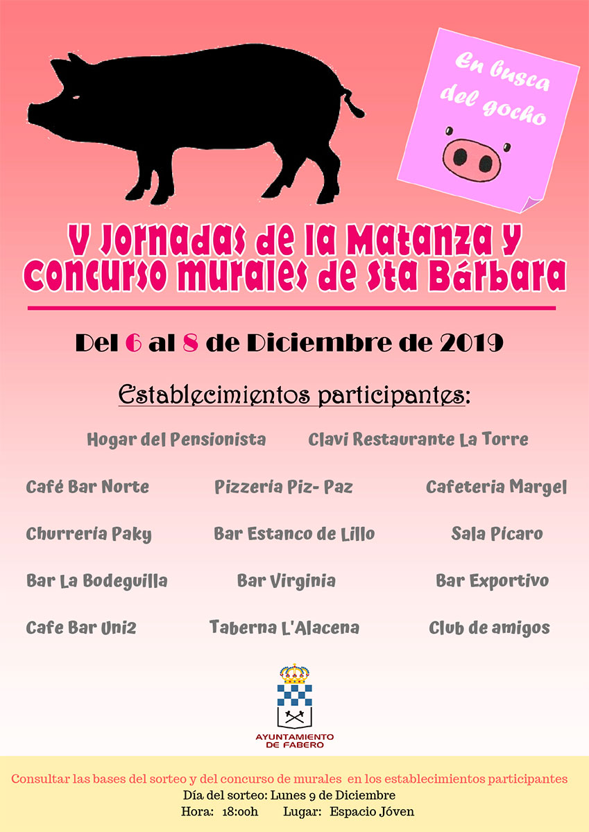 Fabero disfrutará de las V Jornadas de la Matanza. 2019 durante el Puente de Diciembre 1
