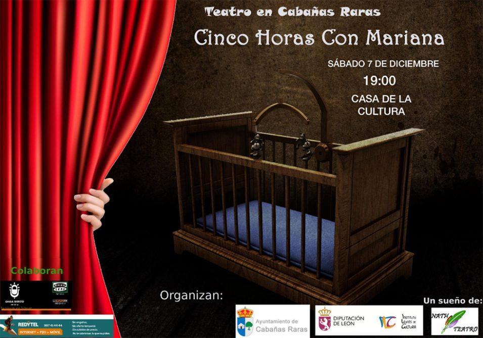 """Nath teatro representa la obra """"Cinco Horas con Mariana"""" en Cabañas Raras 1"""