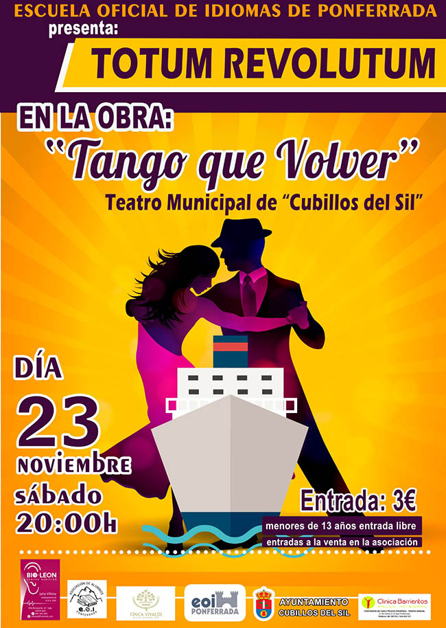 Cubillos del Sil recibe este sábado la obra 'Tango que volver' de Totum revolutum 1