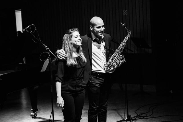 Concierto de piano y saxo del Dúo Minuit en la temporada de Juventudes Musicales 1