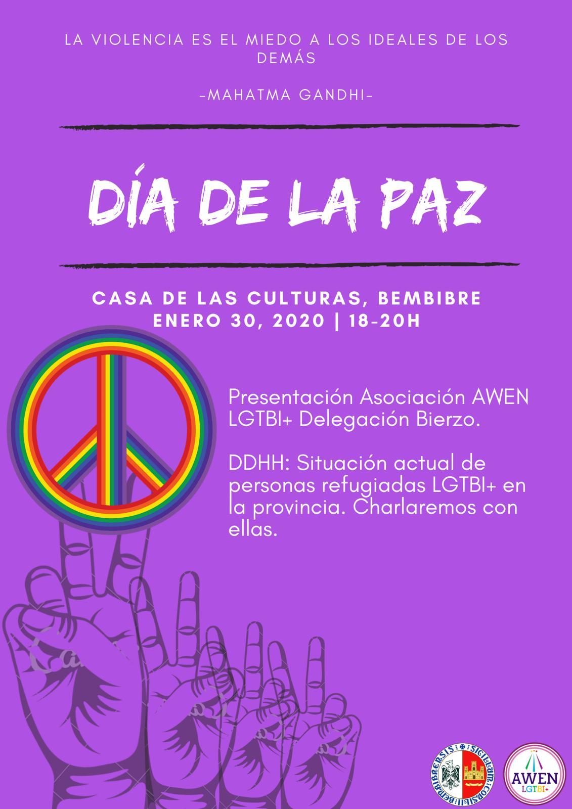 La delegación Bierzo de AWEN LGTBI se presenta en Bembibre el jueves coincidiendo con el Día de la Paz 1