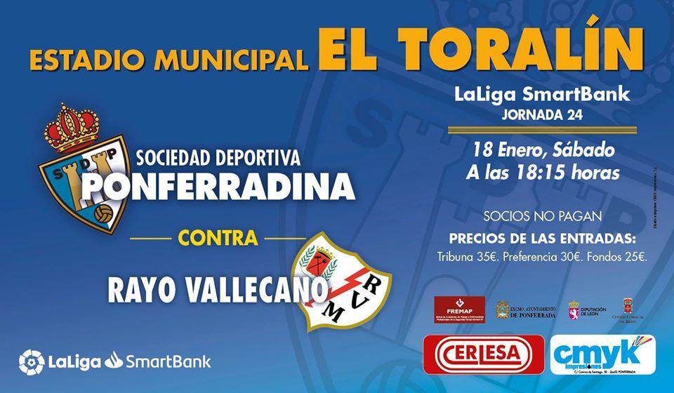 Fútbol: SD Ponferradina - Rayo Vallecano 1