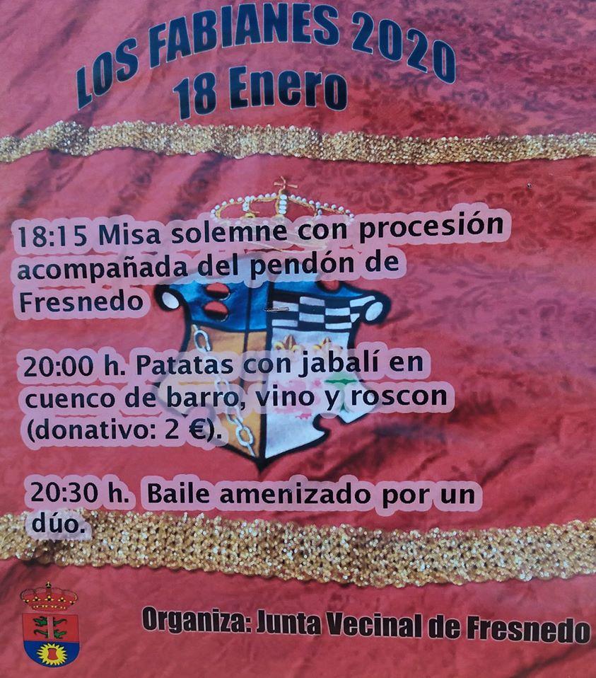 Fresnedo celebra el sábado Los Fabianes 2020 1