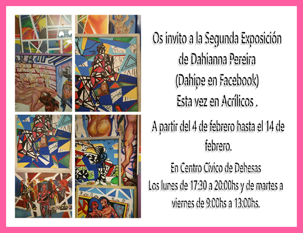 Exposición de acrílicos de Dahianna Pereira 1