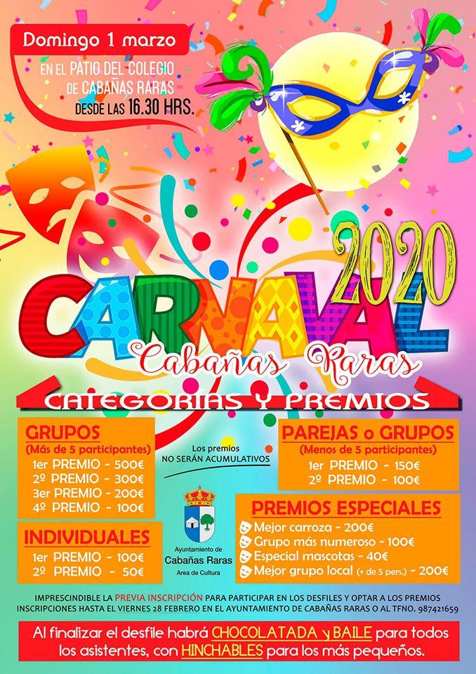 Gran Desfile de Carnaval en Cabañas Raras 2020 1