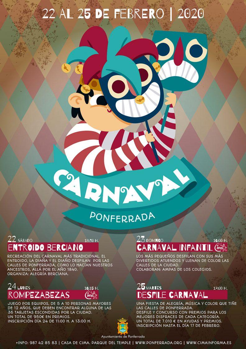 Carnaval en Ponferrada 2020. Programa de actividades 1