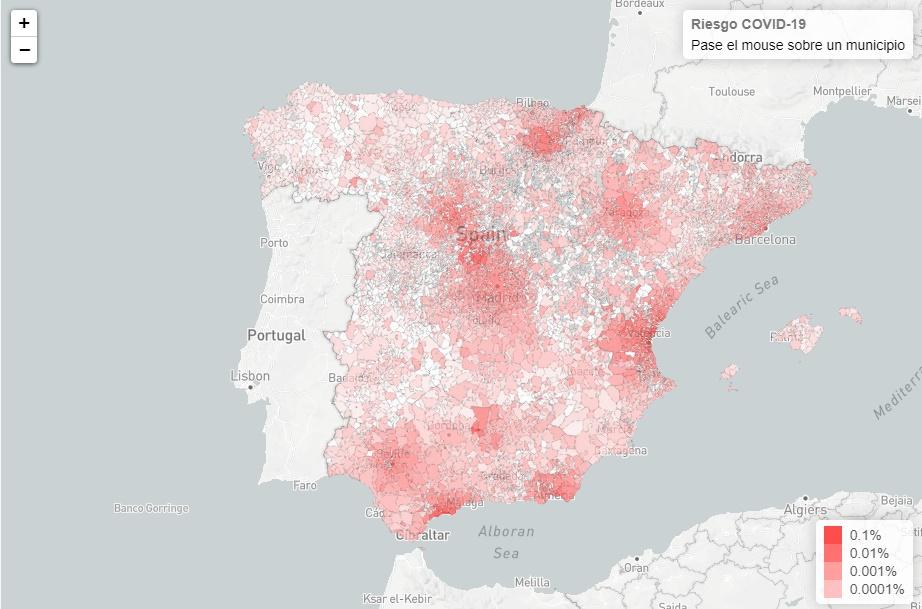 Un algoritmo predice que en la comarca del Bierzo apenas existe riesgo de contagio por coronavirus 1