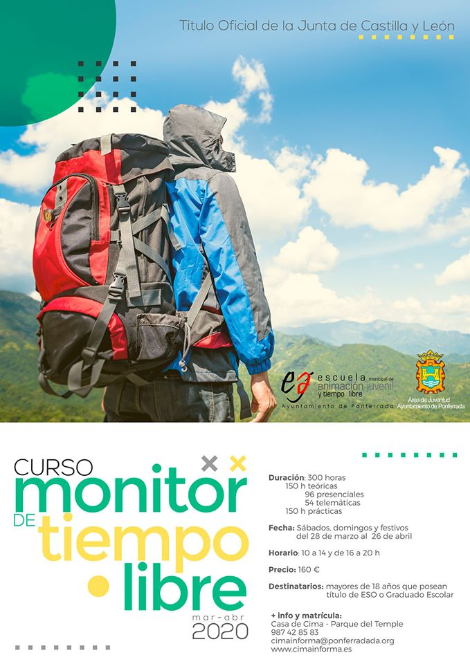 Curso de Monitor de Tiempo Libre en Ponferrada Marzo/Abril 2020. 1