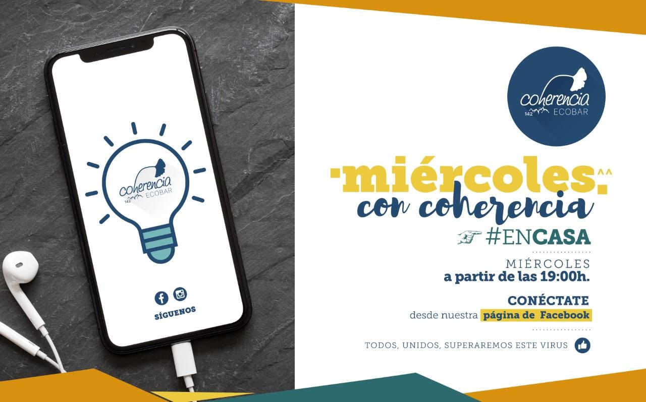 Coherencia Bar organiza esta tarde a las 19 horas su 'Miércoles con Coherencia' #encasa 1