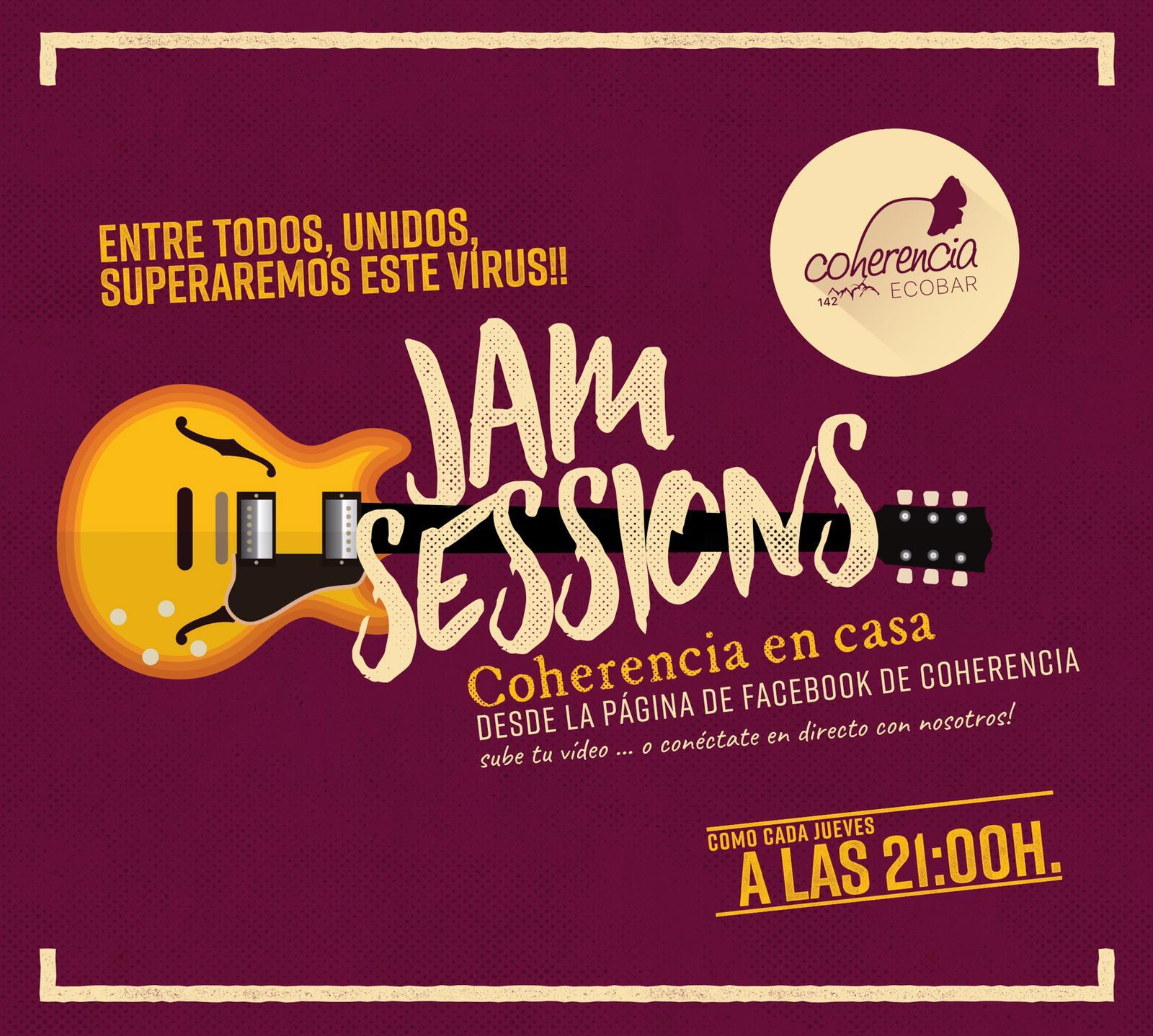 Coherencia Bar organiza para hoy jueves una Jam Session desde su página en Facebook 1